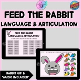 Feed the Rabbit Language & Articulation | Speech Therapy |