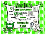 Feed the Recycle Bin Activity - Letter Number Shape Color