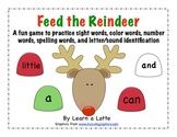 Feed the Reindeer Christmas Craftivity (Sight Words, Lette