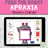 Feed the Robot APRAXIA Boom Cards Distance Learning