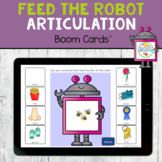 Feed the Robot Articulation BOOM Cards Distance Learning