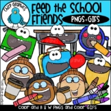 Feed the School Friends GIF and PNG Clip Art Set