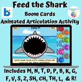 Feed the Shark Animated Articulation Activity Boom Cards™ with sound