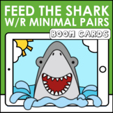 Feed the Shark Minimal Pairs W vs. R  Boom Cards  | Speech