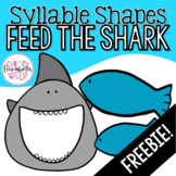 Feed the Shark! Syllable Shapes FREEBIE! Digital and Print!
