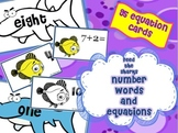 """""""Feed the Sharks""""- Number Words and Equations Game"""