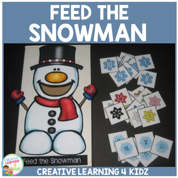 Feed the Snowman Cut-Out Activity