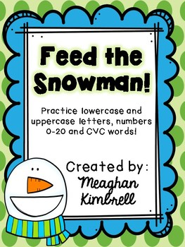 Feed the Snowman (letters, numbers, sounds and CVC words)