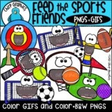 Feed the Sports Friends GIF and PNG Clip Art Set
