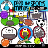 Feed the Sports Friends PNG Clip Art Set