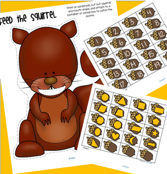 Feed the Squirrel Center - Counting, Numbers, Alphabet, Colors, Shapes