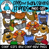 Feed the Thanksgiving Friends GIF and PNG Clip Art Set