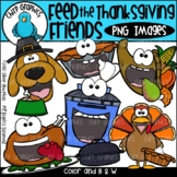Feed the Thanksgiving Friends PNG Clip Art Set