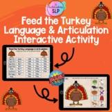 Feed the Turkey Language & Articulation Interactive Activi