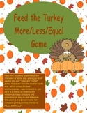 Feed the Turkey More, Less, Equal To Game