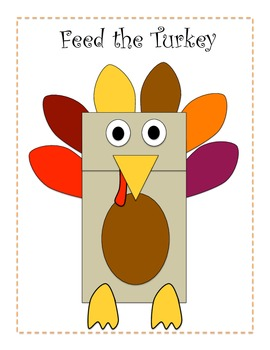 Feed the Turkey Thanksgiving Craftivity (Sight Word & Letter/Sound Practice)