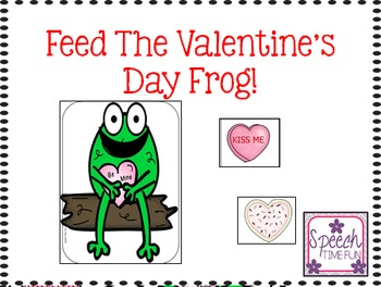 Feed the Valentine Frog File Folder: Great for ABA, following directions, & more