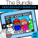 Feed the Winter Friends: Articulation Boom Card Activity