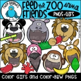 Feed the Zoo Animal Friends GIF and PNG Clip Art Set
