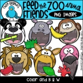 Feed the Zoo Animal Friends PNG Clip Art Set