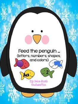 Feed the penguin... (letters, numbers, shapes and colors)
