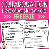 Feedback Cards | Behavior Management | Collaboration FREEBIE