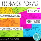 Feedback Forms for any Graded Assignment or Test