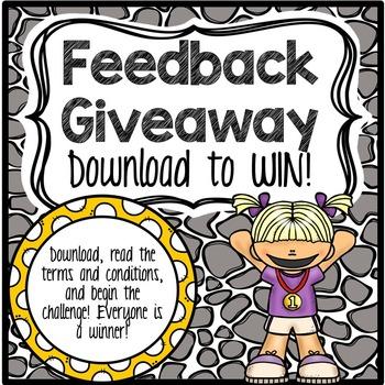 Feedback Giveaway Challenge