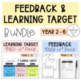 Feedback & Learning Target {BUNDLE} (for sticky notes)