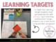 Learning Target 'Post It' Pack (for sticky notes)