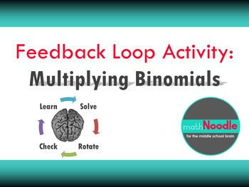 Feedback Loop Activity for Algebra I:  Multiplying Binomials