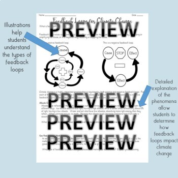 Feedback Loops for Climate Change- NGSS-HS-ESS2-2