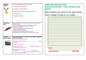 Feedback Marking Sheet