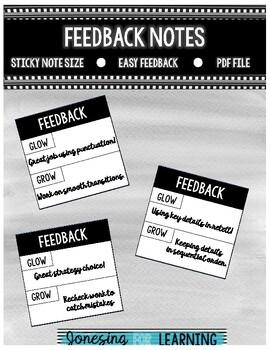 Feedback Note Post-It Note Size