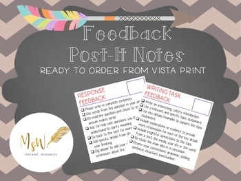 Feedback Post-It Notes