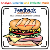 Feedback Sandwiches - Easel Activity