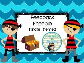 Feedback Slips Pirate Themed