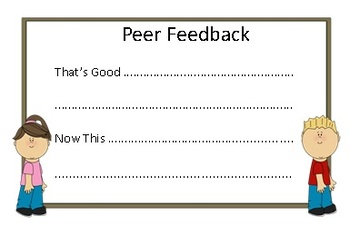 Feedback Slips: Visible Learning 3 - 6 Primary Grades