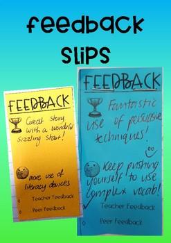Feedback Slips for student work
