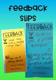 Feedback Slips for student work