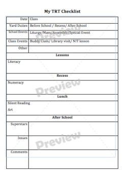 Back to school Feedback form for sub / relief teacher