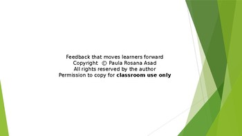 Feedback that moves learners forward.
