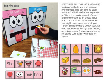 #dec2017slpmusthave Feeding Mouths PRONOUNS Speech Therapy Low Prep Kinder, 1st
