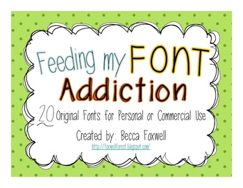 Feeding My Font Addiction {20 Fonts for Personal and Comme