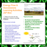 Energy Flow Through Ecosystems Learning Package for AP/Advanced Biology