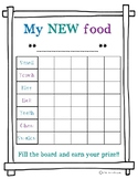 """Feeding Therapy - """"New Food"""" Chart"""