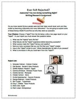 Self-Esteem Writing Project
