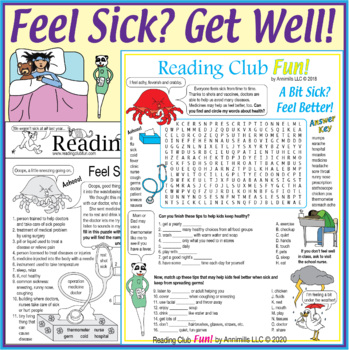 Feel Sick? Get Well! Puzzle Set (Taking Care of Illness)