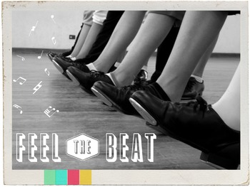 """Feel the Beat"" Dance Graphic for Classroom, Studio, or Web use"