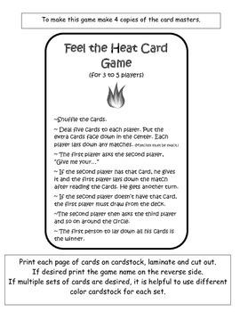 Feel the Heat Card Game